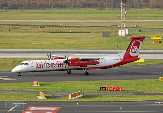 D-ABQC DHC-8 402 LGW Air Berlin DUS