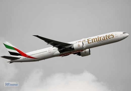 A6-EBV, Boeing B777-31HER, Emirates