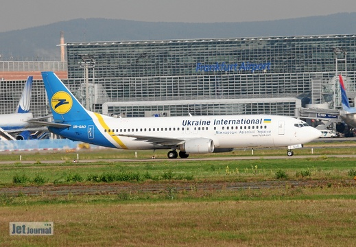 UR-GAO B737-4Z9 Ukraine International Airlines Frankfurt FRA EDDF