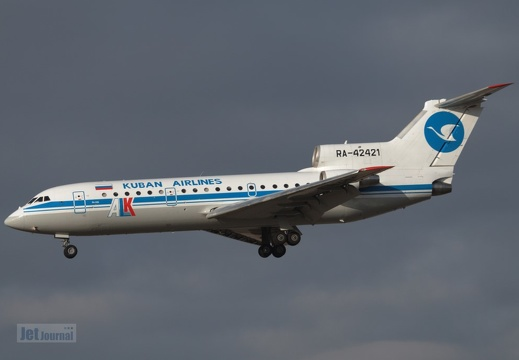 RA-42421 Yak-42D Kuban Airlines