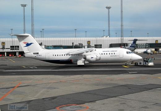 OY-RCC BAe Avro RJ100 Atlantic Airways