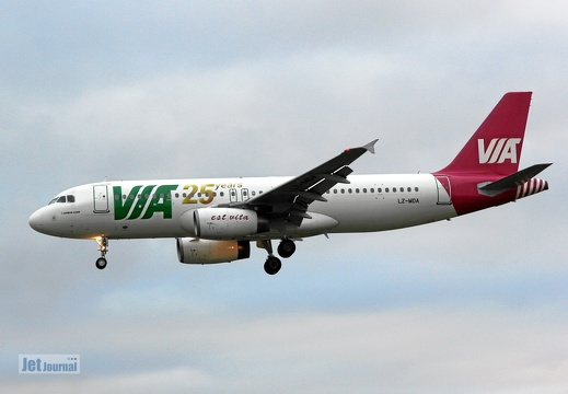 LZ-MDA, Airbus A320 Air Via