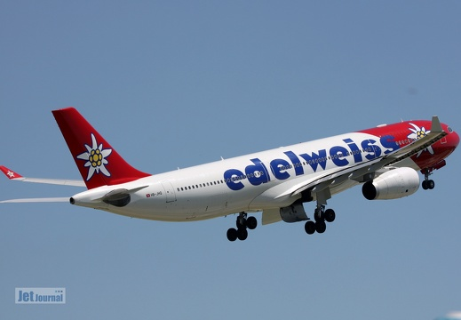 HB-JHQ, Airbus A330-343, Edelweiss