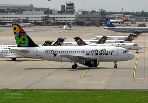 5A-ONI A319-111 Afriqiyah Airways