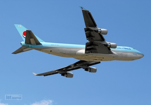 HL7467 B747-4B5F SCD Korean Air KE KAL