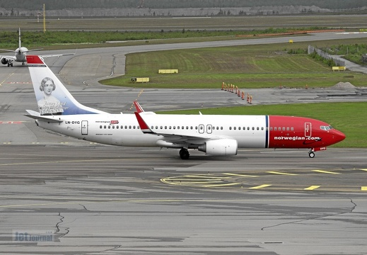 LN-DYG B737-8JP Norwegian Air Shuttle Jenny Lind