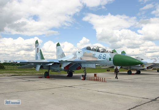 Su-27UB, 68 blau Ukrainian Air Force