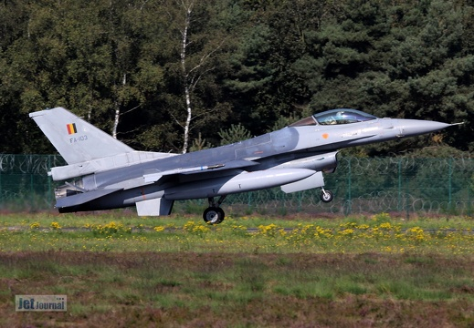 FA-103, F-16AM, Belgian Air Component
