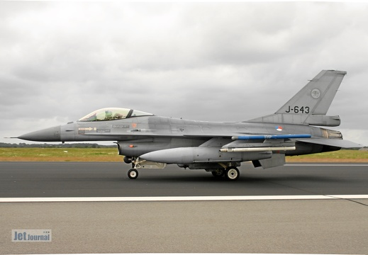 J-643, F-16AM, Royal Netherlands AF