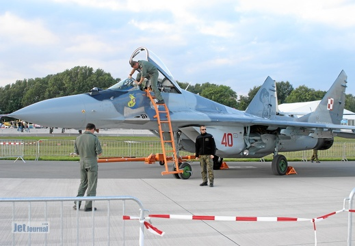 40 rot, MiG-29, Polish Air Force