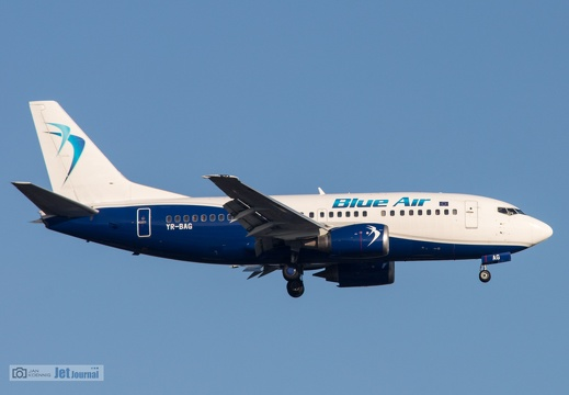 YR-BAG, Boeing B737-5L9, Blue Air