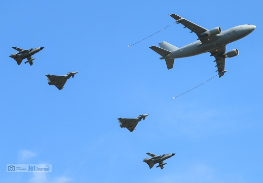 Flypast A310, Tornado, Eurofighter, Deutsche Luftwaffe