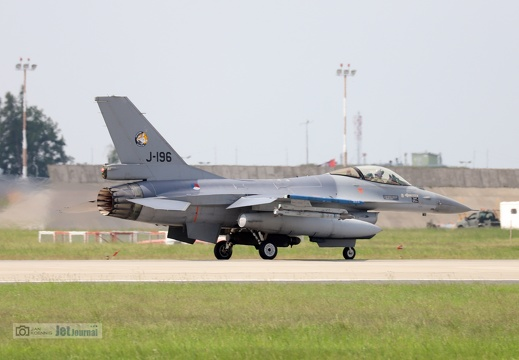 J-196, F-16AM, Royal Netherlands Air Force
