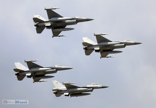 F-16 4Ship Formation, Belgian Air Force