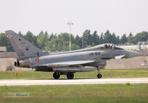 14-03, C16-36, Eurofighter EF-2000 Typhoon, Spanish Air Force