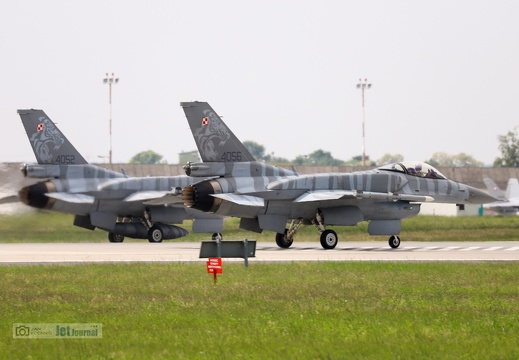 4052 und 4056, F-16C, Polish Air Force