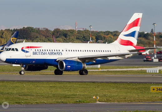 G-EUOB British Airways Airbus A319-131 Hamburg (EDDH/HAM)