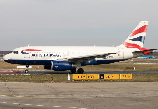 G-EUPK, Airbus A319-131, British Airways