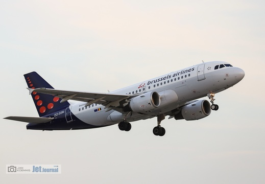 OO-SSM, Airbus A319-112, Brussels Airlines