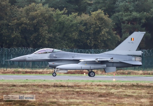 FA-70, F-16AM, Belgian Air Force