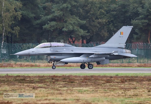 FB-17, F-16BM, Belgian Air Force