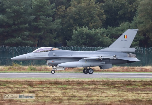 FA-103, F-16AM, Belgian Air Force
