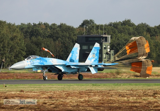 58 blau, Su-27P, Ukrainian Air Force