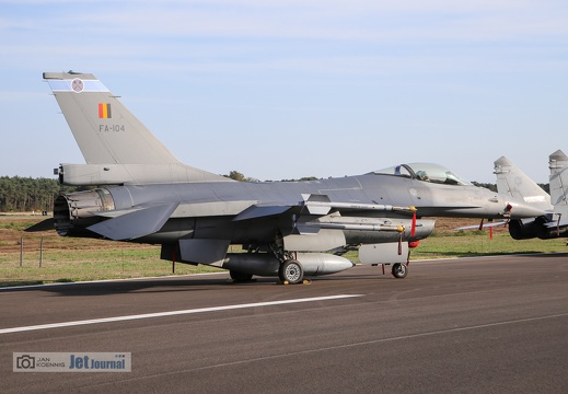 FA-104, F-16AM, Belgian Air Force