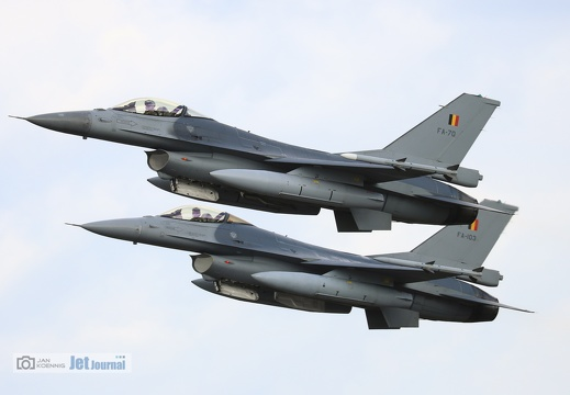 F-16 Paarstart, Belgian Air Force